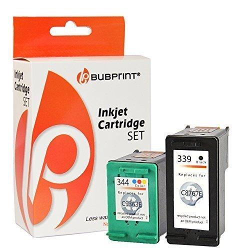 Bubprint 2 Druckerpatronen kompatibel für HP 339 HP 344 für Deskjet 5740 5940 6500 6980 9800 Officejet 7210 7310 K7100 Photosmart 2610 8050 8150 8450