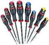 Facom adm. J8PB-Jeu de 8tournevis pointe de diamant) couleur Noir, Jaune, Bleu et Rouge