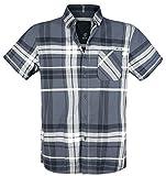 Brandit Mike Checkshirt Hemd Anthrazit/Schwarz/altweiß 5XL