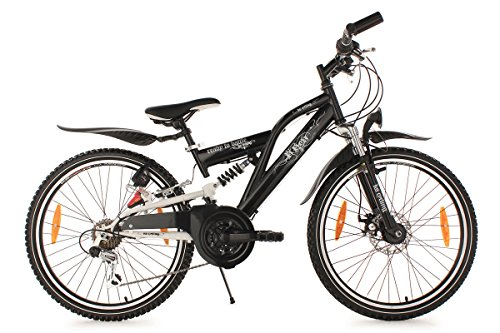 KS Cycling Kinder Fahrrad Kinderfahrrad B-Boy RH 36 cm Schwarz, 24