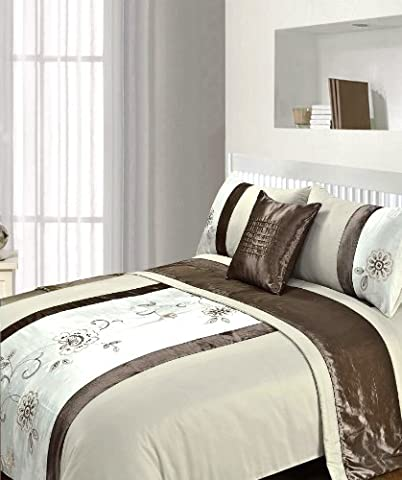 Just Contempo Floral 5pc Bed in a Bag Duvet Set, King, Brown