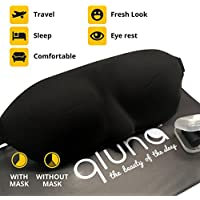 Sleeping Mask for Men & Women - Qluna - Unisex Design. The Eye Mask is Perfect for Travel. It will Block Light but Won't Touch your Eyes like other Eye Masks - Travel Bag for Documents and Ear Plugs Included for FREE
