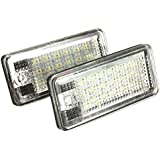 AUDEW ERROR FREE 18 LED License Number Plate Light Lamp For Audi A3 A4 A6 A8 B6 B7 S3 Q7 RS4 RS6