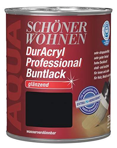 Schöner Wohnen Duracryl Professional Buntlack 0,75L schwarz 9900 glänzend