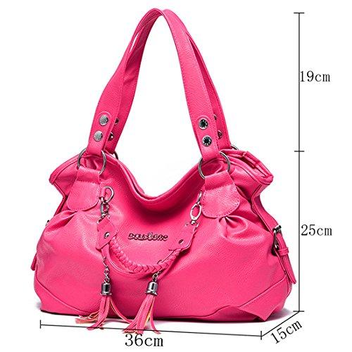 Romanti-Rila faux cuir sacs à main femmes sac à bandoulière sac à bandoulière imiter cuir sac à bandoulière sac à bandoulière sac à bandoulière blanc brun