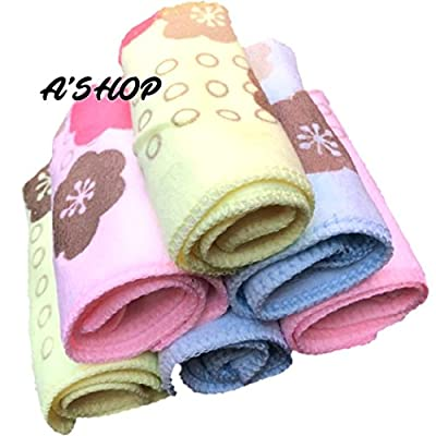 A'SHOP Beautifully Designed Love Stuck Soft Handkerchiefs Cotton Printed Towel Colourful Hankies for girls, women & kids(Pack of 6)