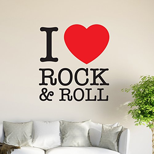 i-love-rock-n-roll-graphics-papier-peint-vinyle-autocollant