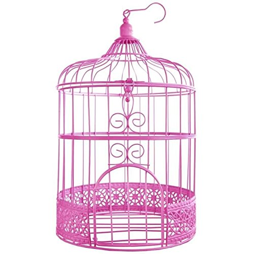 SANTEX 3871-15, Tirelire Cage métal Fuchsia