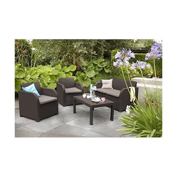 ... Keter Carolina 4 Seater Lounge Set Outdoor Garden