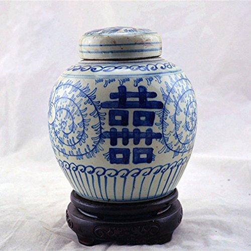L Y Antikes Porzellan Republik China Blau Jasmin Gläser Alte Dosen Antiken Antiquitäten Antiken Keramik-Sammlung Handwerk,A Antik China
