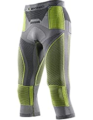 X-Bionic Radiactor Functional Evo UW Base Layer Pants - Pantalones unisex, multicolor (iron/yellow), talla L/XL