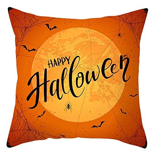 Doubleer Halloween Dekorative Kissenbezug Kürbis Hexe Kissenbezug Peach Skin Home Kissenbezug