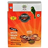 #4: Arya Farm 100% Certified Organic Sprouted Multi Grain Malt Powder Mix , 300g , ( Energy Health Drink Powder for Children and Adults / No Added Sugar / No Preservatives / No Artificial Flavour / No Artificial Colour / Chemicals Free / Pesticides Free )