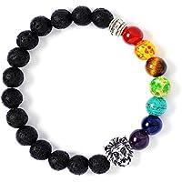leefi Chakren Lava Rock Perlen schwarz Edelstein Armband Reiki Healing Buddha Armbänder preisvergleich bei billige-tabletten.eu