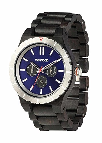 Orologio in legno Wewood Ghiera Acciaio Kappa MB Black Blue