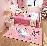ozwed Kinderzimmer Cartoon Teppich Schlafzimmer Männer und Frauen niedlichen Raum Nacht Zelt hängenden Korb Computer Stuhl Drehstuhl Krabbeldecke - 2 m × 3 m