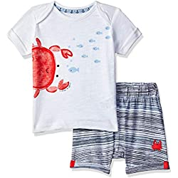 Mothercare Baby Boys' Jersey Top and Shorts Clothing Set, Blue 128, 6-9 Months (Size:74CM)