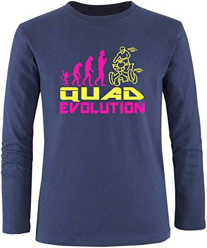 EZYshirt® Quad Evolution Herren Longsleeve Navy/Pink/Gelb