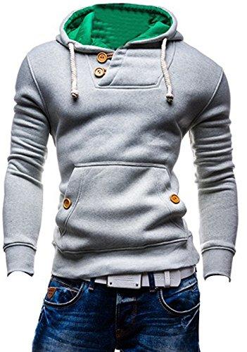 BOMOVO-Chaqueta con capucha Sudadera de manga larga para hombre Slim Fit