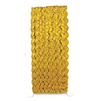 25 Yards Ric Rac Roll Yards Ribbon Braid Trimming Ricrac Choice of Colours DIY Sewing Trim By Accessories Attic (Gold)