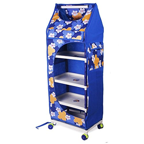 Ebee Baby Easy to assemble Toy Box/Wardrobe (Blue, 5 Layer)