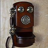 Hotel de lujo / vintage de la Villa estilo europeo de pared teléfonos teléfonos antiguos dial giratorio metálico