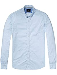 Scotch & Soda Relaxed Fit Chemise De Mens Classic Manches Longues Oxford