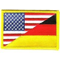 Yantec Patch Europa mit Deutschland in der Mitte 4 x 6 cm Flaggenaufn/äher