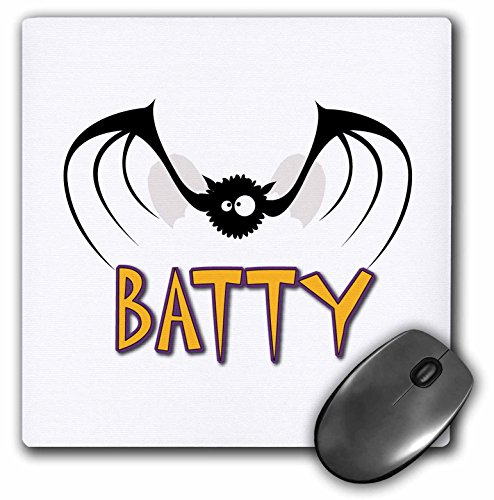 3drose Silly Batty Bat Halloween Süße Tier Cartoon Maus Pad (MP 153708_ 1)