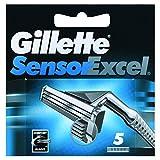 Gillette Sensor Excel Mens Razor Blade Refills 5 count