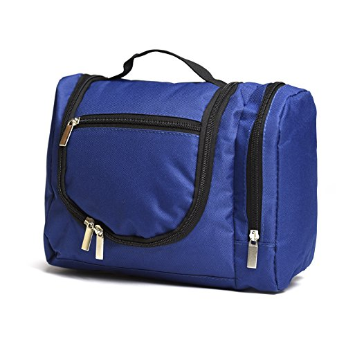Aktion: Kulturtasche Travel 1 - SUPER praktisch für unterwegs mit viel Platz und vielen Fächern in royal blau - für Frau und Mann