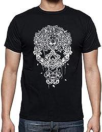 tostadora Tee Shirt Mexicaine Blanc du Tête de Mort - Tee Shirt Homme,  qualité Supérieure e55f1ec111fa