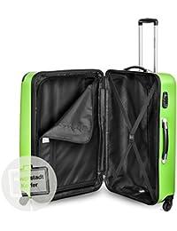 Hauptstadtkoffer - Juego de 3 maletas rígidas con ruedas en 3 tamaños o juego junto con ruedas giratorias y candado TSA con combinación