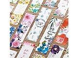 SUPRERHOUNG Geeignet Ca. 30 Stück Retro-Stil Tuschmalerei Lesezeichen Lotus Blume Print Papier Label Page Marker Student Briefpapier