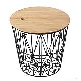 Eisen Eiche Sofa Beistelltisch Wohnzimmer Studie Einfache Möbel mit Speicherfunktion Schwarz