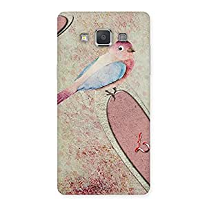 Special Bird Heart Drawing Back Case Cover for Galaxy Grand Max