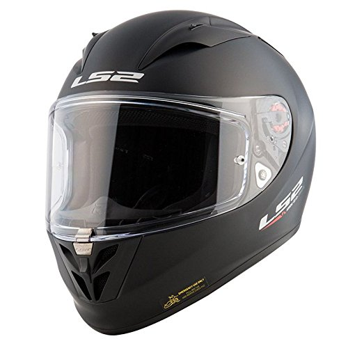 LS2 - Casco per Moto, Nero Opaco, XXL
