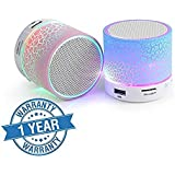 Quastro Wireless LED Bluetooth Hands-free Speakers with Calling Functions and FM Radio for All Android and iPhone Smartphones (Assorted Colour)