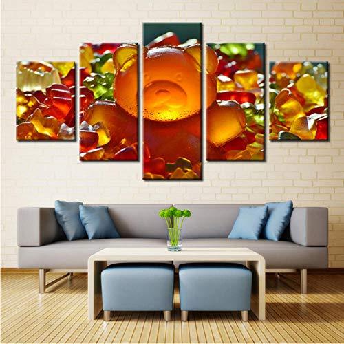 n süße Bonbons bunte Marmelade Malerei Bild auf Küche & Restaurant Dekor Landschaft Zimmer ()