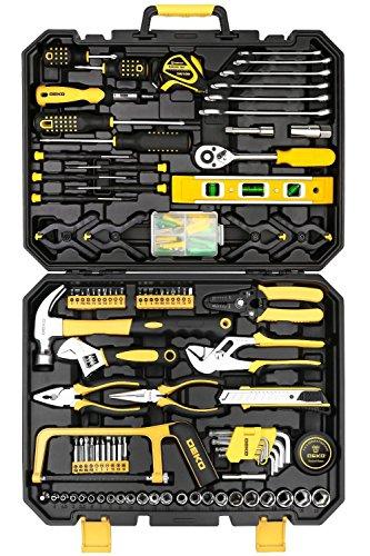 DEKO Malette à outils de 168 Pièces - Clé À Douille Outil De Réparation Paquet Combiné, Boite de rangement plastique pour Set d'Outils