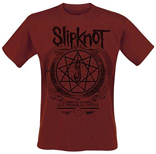 Slipknot Blurry T-Shirt Dunkelrot Dunkelrot