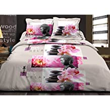 housse couette zen 260x240. Black Bedroom Furniture Sets. Home Design Ideas