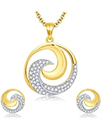 Sukkhi Harmonious Gold And Rhodium Plated CZ Pendant Set For Women