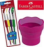 Faber-Castell 481600 Pinselset 4-teilig mit Softgriffstück