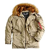 Alpha Industries Explorer Winterparka (div. Farben) (3XL, Khaki)