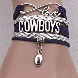 WEI Armband Western Cowboy Buchstabe Armband Rugby Gestrickt Echtes Armband,Bild,Einheitsgröße