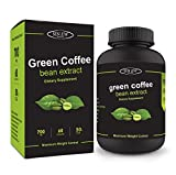 Sinew Nutrition Green Coffee Beans Extract 700mg (60 Count), 100% Pure & Natural