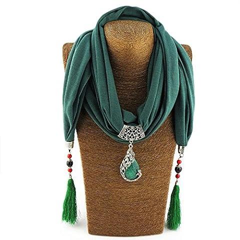 Yxzn Style ethnique Pendentif Femme Écharpe, 4