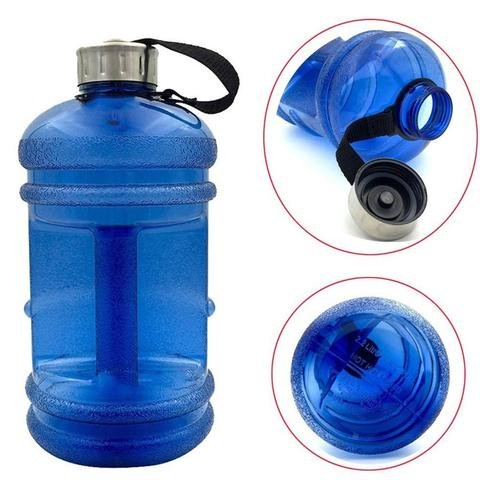 Gallon Gym Water Bottle 2.2 Litres  Different Colours  BPA Free  Transparent Look  Wide Mouth  HIGH Quality Plastic  Stronger Than Others  Gym Water Bottle  Sports Bottle  Gym Shaker  Shaker Bottle 