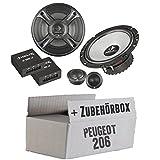 Peugeot 206 - Helix - B 62C.2 - 16cm 2-Wege Lautsprecher System - Einbauset